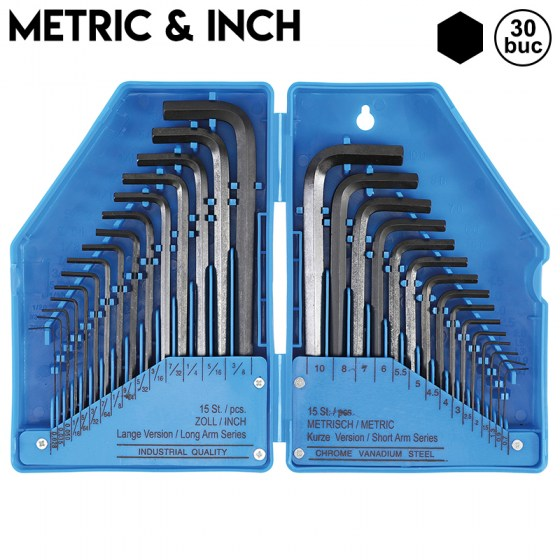 Hexagon L-Type METRIC si INCH - 30buc - 810-BGS