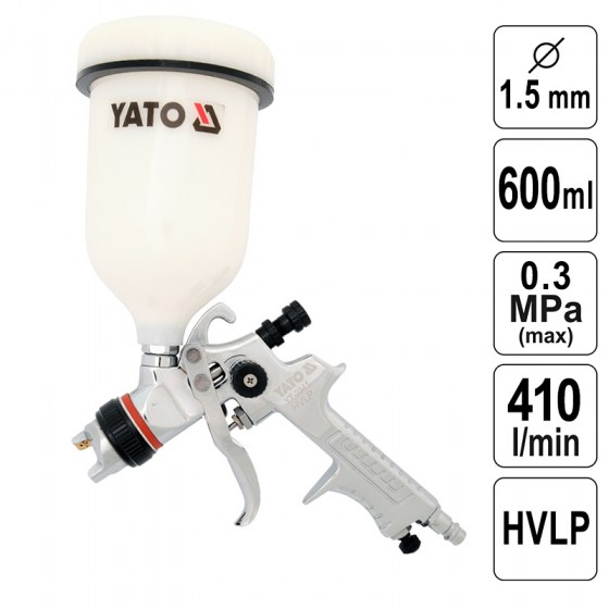 Pistol de Vopsit 1,5 mm - 600 ml - HVLP - YT-2341